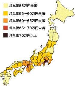 木造住宅の各県別平均坪単価