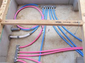 ヘッダー方式の設備配管