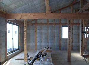 壁+屋根;セルロースファイバー