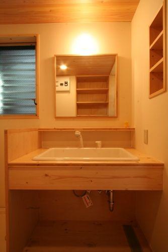 篠崎の家洗面台