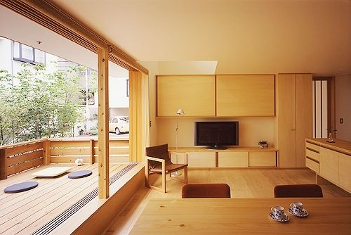 東中野 町角の家 リビング