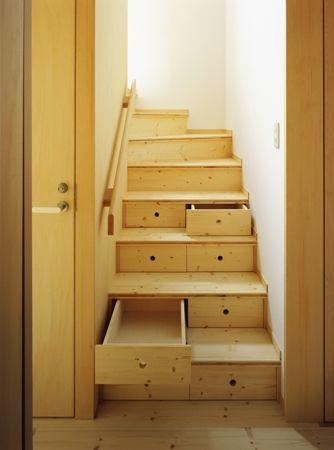 葛飾の家階段