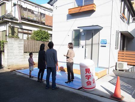 世田谷区「松原の家」、「松原の家2の」完成見学会の様子、外観