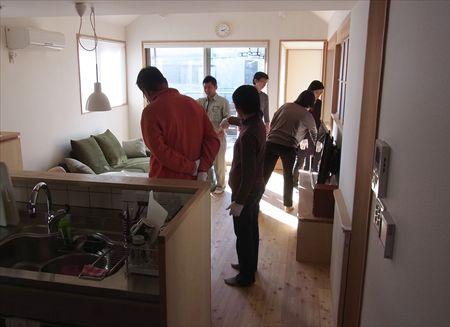 世田谷区「松原の家」、「松原の家2の」完成見学会の様子、リビング