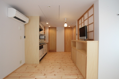 施工後 作り付け家具類の新設
