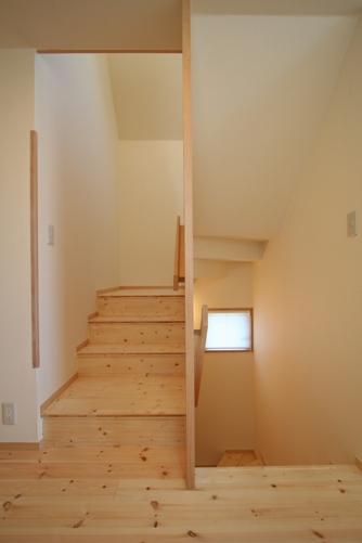 21.台形の家階段