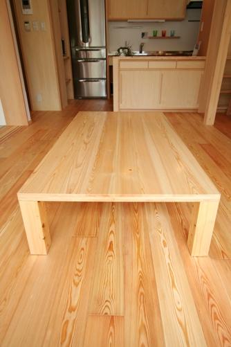 オリジナル座卓(大工がつくる家具)