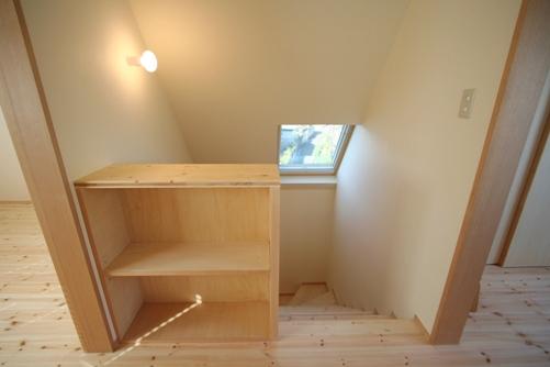 22.台形の家階段