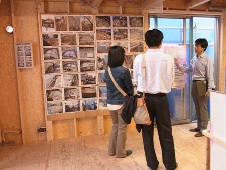 千葉県市川の構造見学会の様子
