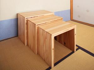 ネストテーブル:引き出し時